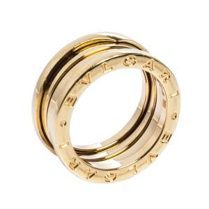 Bvlgari B.Zero1 18K Yellow Gold 3-Band Ring Size 52