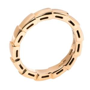 Bvlgari Serpenti Viper 18K Rose Gold Wedding Band Ring Size 50