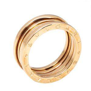 Bvlgari B.Zero1 18K Rose Gold 3-Band Ring Size 62