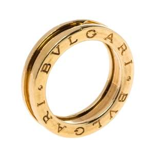Bvlgari B.zero1 18K Yellow Gold One-Band Ring Size 51