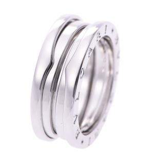 Bvlgari B.Zero1 1-Band 18K White Gold Ring Size EU 53