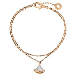 Bvlgari Divas' Dream Mother of Pearl 18K Rose Gold Chain Bracelet SM