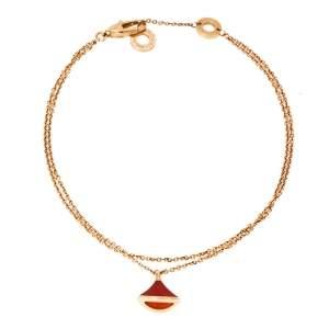 Bvlgari Divas' Dream Carnelian 18K Rose Gold Charm Bracelet M/L