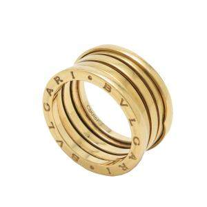 Bvlgari B.Zero1 Four-Band Yellow Gold Ring Size 59