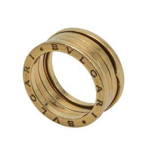 Bvlgari B.Zero1 Four-Band Yellow Gold Ring Size 57