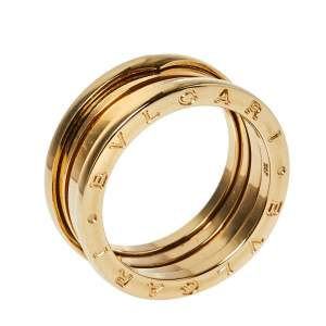 Bvlgari B.Zero1 18K Yellow Gold Three-Band Ring Size 61