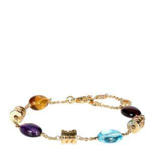 Bvlgari B. Zero 1 Multi Colored Gemstones 18K Yellow Gold Bracelet