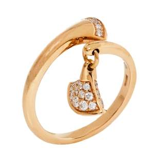 Bvlgari Divas' Dream Diamond 18K Rose Gold Ring Size 54