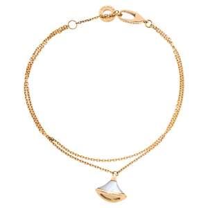 Bvlgari Divas' Dream Mother of Pearl 18K Rose Gold Charm Bracelet SM