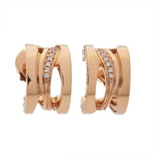 Bvlgari B.Zero1 Design Legend Diamond 18K Rose Gold Earrings