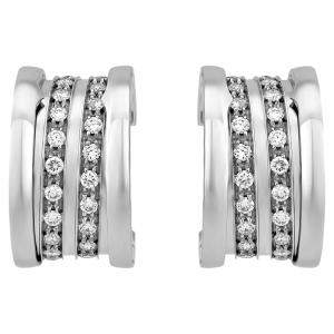 Bvlgari 18K White Gold B. Zero1 Diamond Earrings