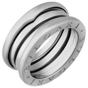 Bvlgari 18K White Gold B.Zero1 3 Band Ring Size EU 51