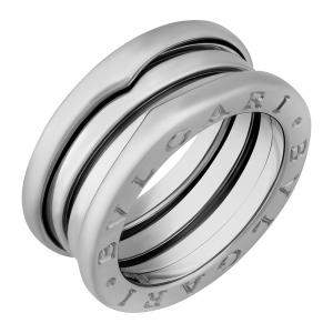 Bvlgari 18K White Gold 3 Band B.Zero1 Ring Size EU 57
