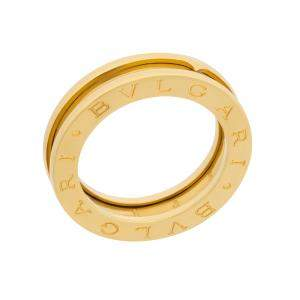 Bvlgari 18K Yellow Gold B.Zero1 One Band Ring Size EU 58