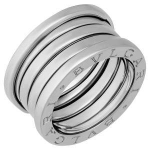 Bvlgari 18K White Gold B.Zero1 4 Band Ring Size EU 52