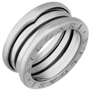 Bvlgari 18K White Gold 3 Band B.Zero1 Ring Size EU 50