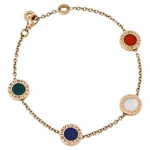 Bvlgari Bvlgari Multi Colored Gemstone 18K Rose Gold Station Bracelet