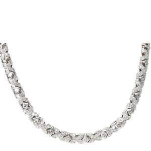 Bvlgari Tubini Diamond 18K White Gold Necklace