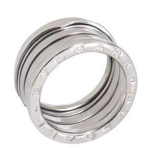 Bvlgari B.zero1 18K White Gold 4 Band Ring Size EU 56