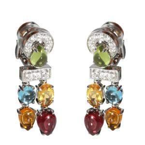 Bvlgari Allegra Sapphire & 18K White Gold Diamond Earrings
