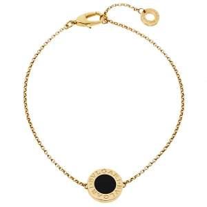 Bvlgari Onyx 18K Yellow Gold Bracelet