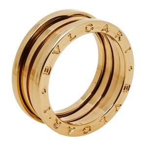 خاتم بلغاري بي زيرو 1 ذهب أصفر عيار 18 ألماس ثلاث حلقات مقاس 60