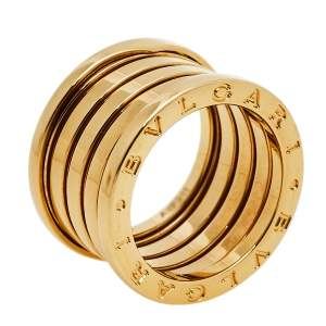 Bvlgari B.Zero1 18k Yellow Gold Five Band Ring Size 52
