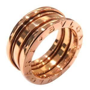 Bvlgari B.Zero1 3-Band Rose Gold Ring Size EU 49