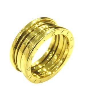 Bvlgari B.Zero1 4-Band 18K Yellow Gold Ring Size EU 52