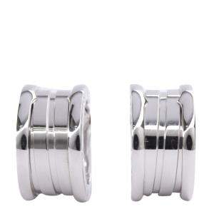 Bvlgari B.Zero1 18K White Gold Hoop Earrings