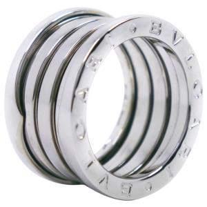 Bvlgari B.Zero1 4-Band 18K White Gold Ring Size EU 50