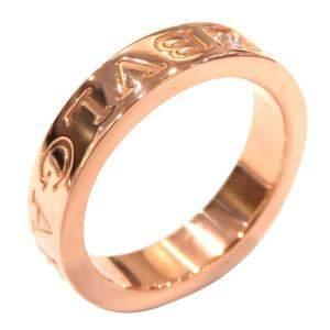 Bvlgari Bvlgari Bvlgari 19K Rose Gold Diamond Ring Size EU 52
