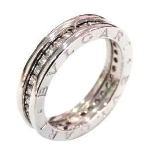 Bvlgari B.Zero1 18K White Gold Diamond Ring Size EU 52