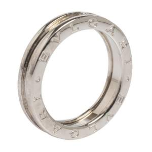 Bvlgari B.zero1 18K White Gold One-Band Ring Size EU 60