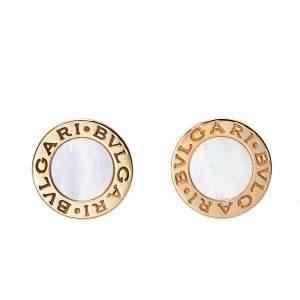 Bvlgari Bvlgari Mother of Pearl 18K Rose Gold Stud Earrings