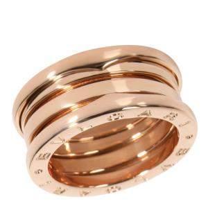 Bvlgari B.Zero1 4-Band 18K Rose Gold Ring Size EU 51