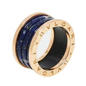 Bvlgari B.Zero1 Lapis Lazuli 18K Rose Gold Band Ring Size 57