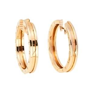Bvlgari B.Zero1 18K Rose Gold Hoop Earrings