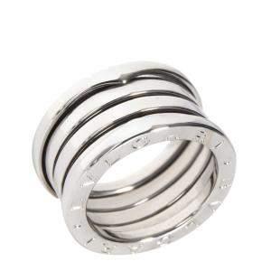 Bvlgari 18K White Gold B.zero1 Band Ring Size 49