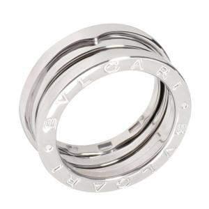 Bvlgari 18K White Gold B.zero1 Band Ring Size 52