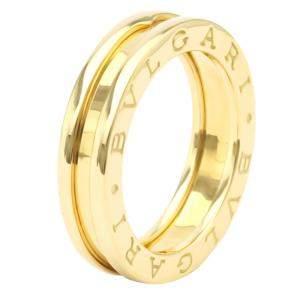 Bvlgari B.Zero1 1-Band Yellow Gold Ring Size EU 50