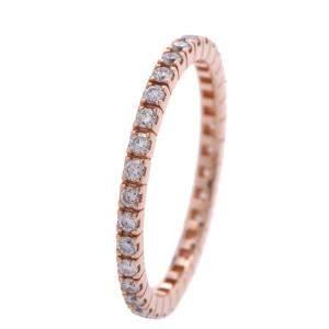 Bvlgari Eternity 18K Rose Gold Diamond Ring EU 46
