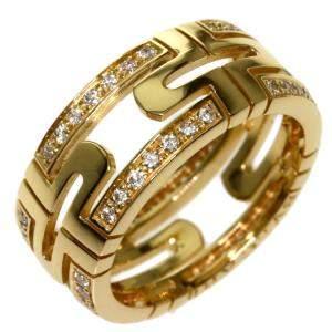 Bvlgari Parentesi 18K Yellow Gold, Diamond Ring Size EU 50