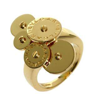 Bvlgari Chicladi Disc 18K Yellow Gold Ring EU 47