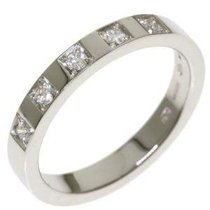 Bvlgari Marie Milling 5 Platinum Diamond Ring EU 57