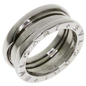 Bvlgari B.Zero1 1-Band 18K White Gold Ring Size EU 48