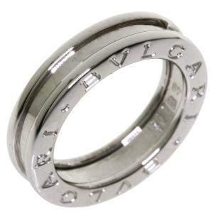 Bvlgari B.Zero1 18K White Gold Ring EU 48