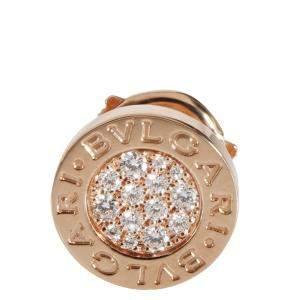 Bvlgari Bvlgari Bvlgari Single 18K Rose Gold Diamond Stud Earring