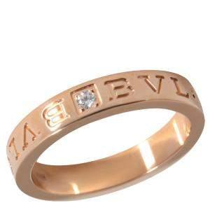 Bvlgari Bvlgari Bvlgari 18K Rose Gold Diamond Ring Size EU 60