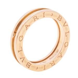 Bvlgari B.Zero1 18k Rose Gold 1-Band Ring Size 54